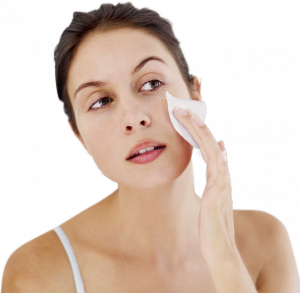 Clean your face with wipes