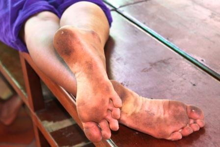 Dirty footjob