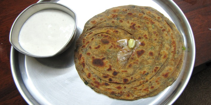 Garlic Mint Paratha2