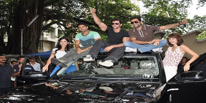 Farhan Akhtar, Hrithik Roshan, Katrina Kaif and Abhay Deol