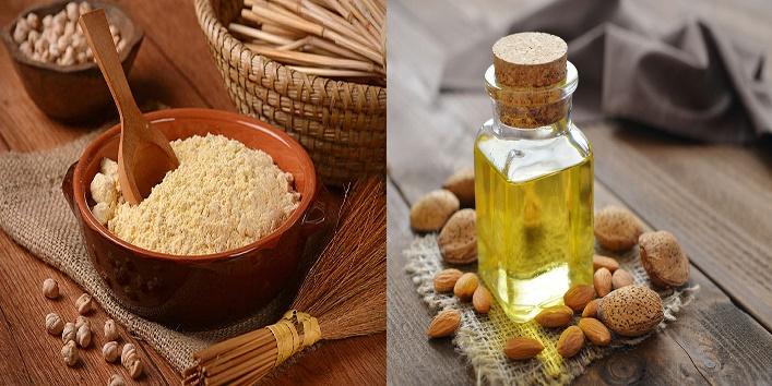 Gram-flour-and-Almond-oil-mask-1