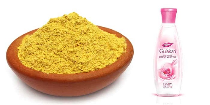 Rose Water and Gram Flour
