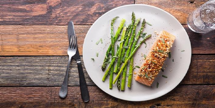 Asparagus and salmon