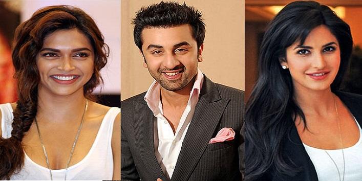 Deepika Padukone, Ranbir Kapoor and Katrina Kaif