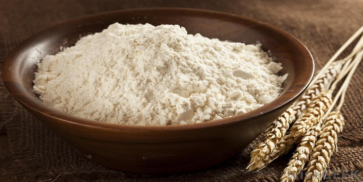Exfoliate your feet using rice flour