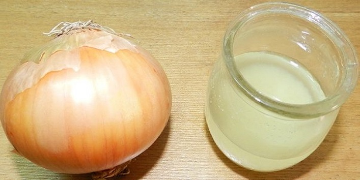 Onion juice for shiny thick hair
