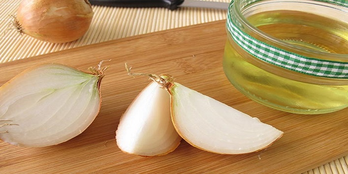 Ginger, almond oil and onion juice mask