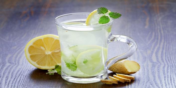 Mint and lemon drink