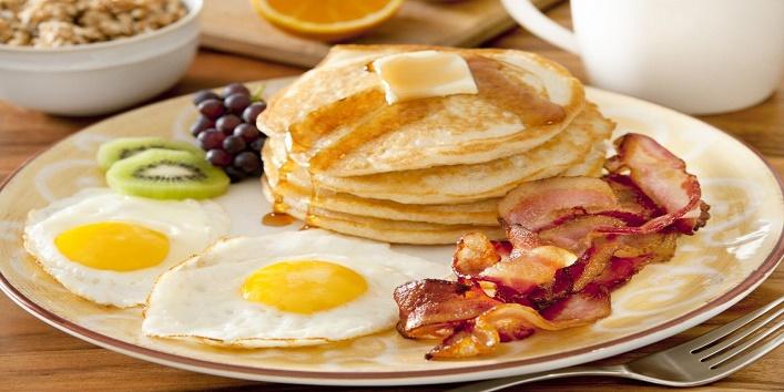 Have heavy breakfast