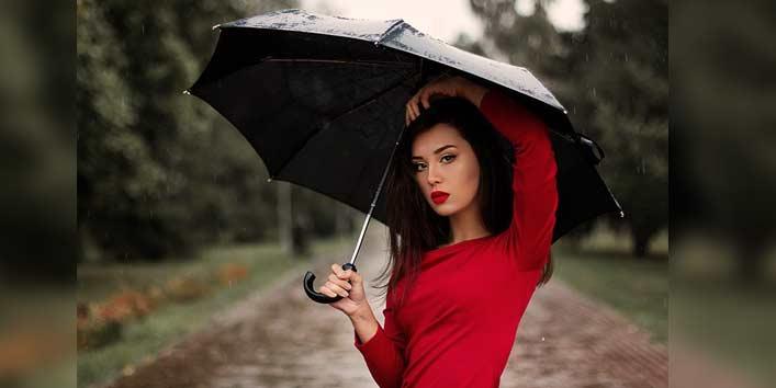 Plain Black Umbrella