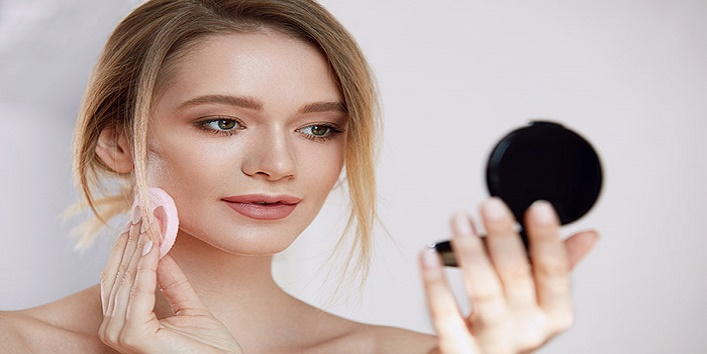 Use face powder in place of foundation