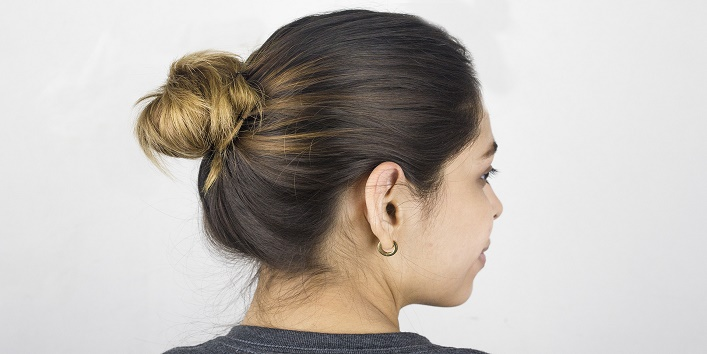 Keep your hairstyle simple