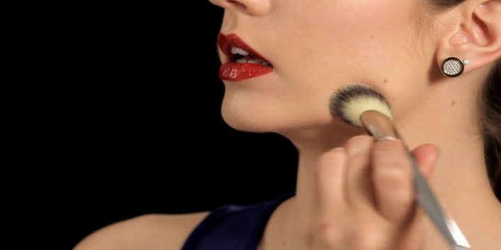 Use the brush for applying foundation