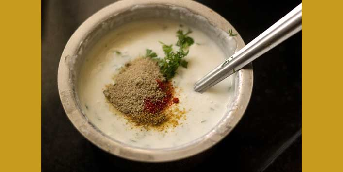 How To Make Raita And Stuffing For Frankie Recipe