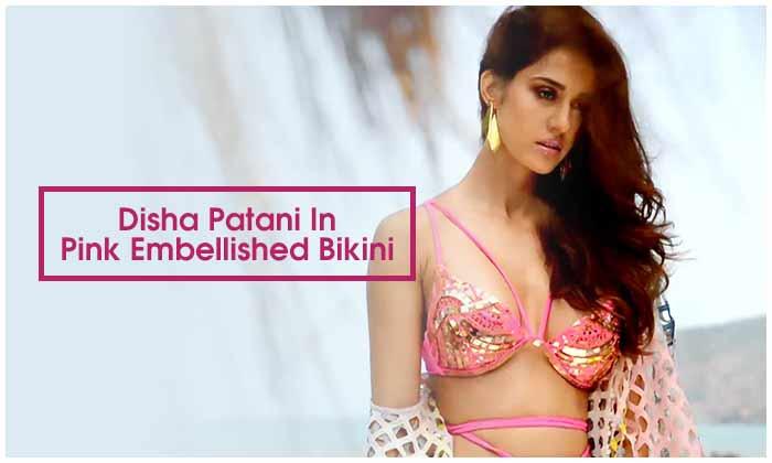 Disha Patani In Pink Embellished Bikini