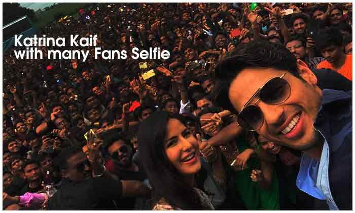Katrina Kaif With Many Fans Selfie