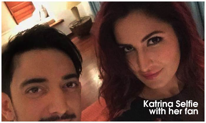 Katrina Selfie With Her Fan