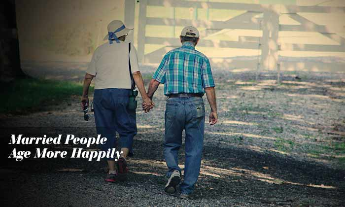 Married People Age More Happily