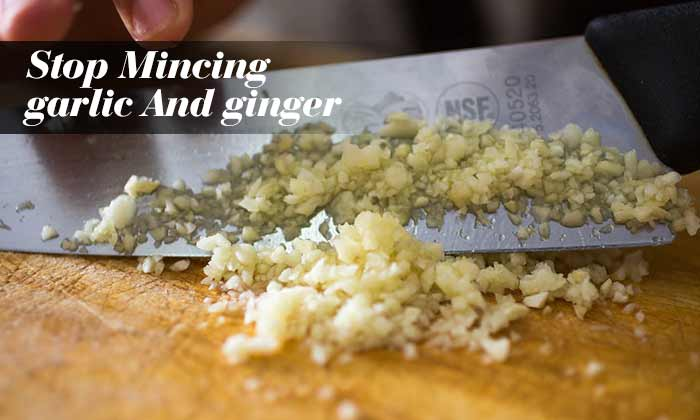 Stop Mincing Garlic And Ginger