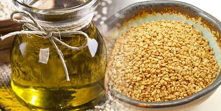 Sesame oil and Fenugreek seeds