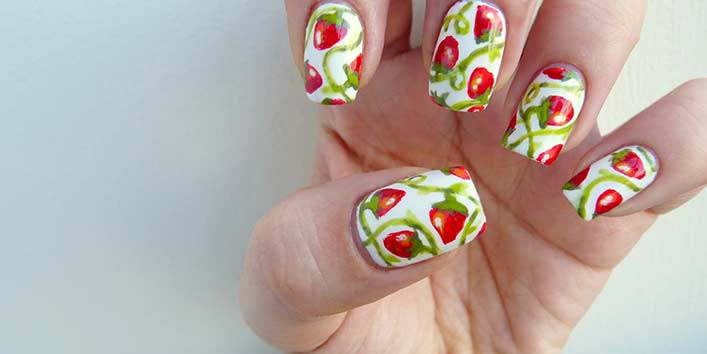 Strawberry Fields Forever Nails