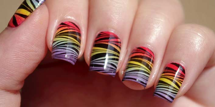 Water Marble Nail Art Technique