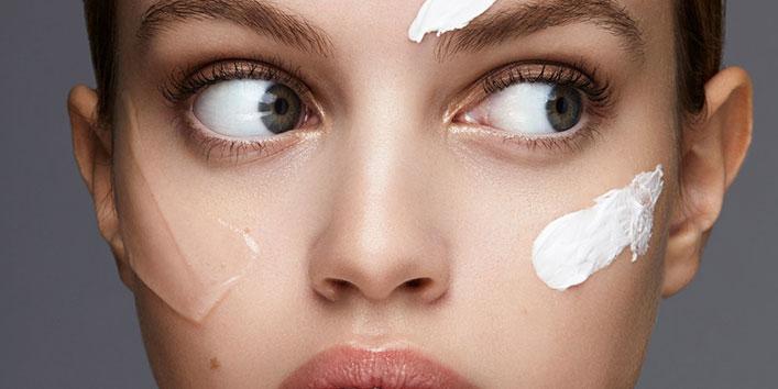 Avoid moisturizer for the day