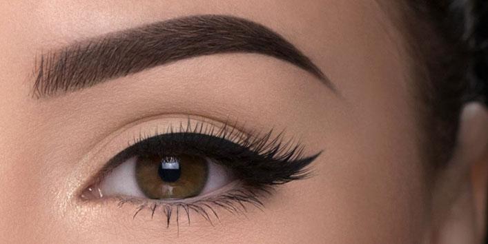 Defined eyebrows